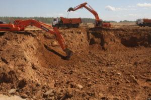 разработка грунта котлована