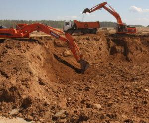 разработку грунта котлована