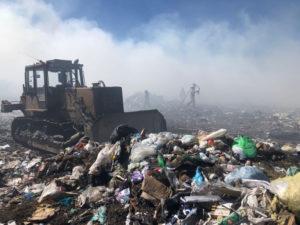 полигон с мусором